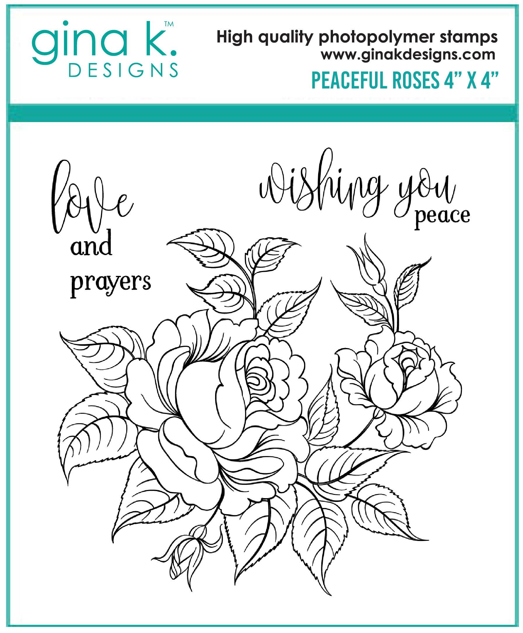 STAMPS- Peaceful Roses MINI - Gina K Designs
